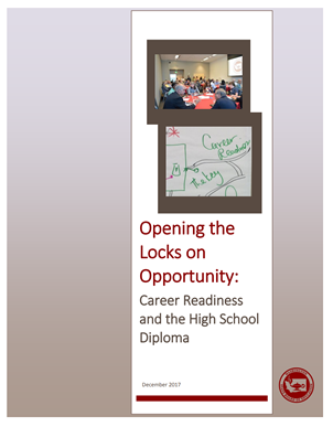 Report Cover: Career Readiness and the High School Diploma